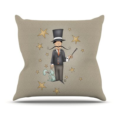 Circus Magician by Carina Povarchik Throw Pillow Size: 16 H x 16 W x 1 D