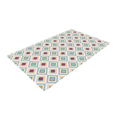 Empire Ruhl Hip Diamonds Pattern Blue/Red Area Rug Rug Size: 4 x 6
