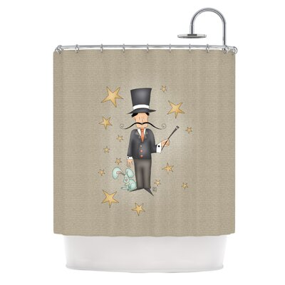 Carina Povarchik Circus Magician Shower Curtain