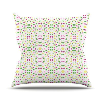 Neon by Empire Ruhl Throw Pillow Size: 16 H x 16 W x 1 D