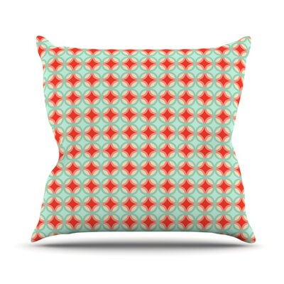 Retro Circles Throw Pillow Size: 20 H x 20 W x 1 D