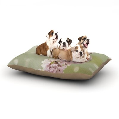 Catherine McDonald Cherry Blossom Dog Pillow with Fleece Cozy Top Size: Small (40 W x 30 D x 8 H)