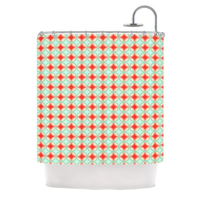 Catherine McDonald Retro Circles Shower Curtain