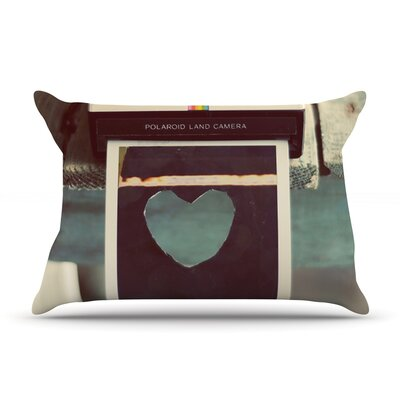 Polaroid Love by Cristina Mitchell Featherweight Pillow Sham Size: Queen, Fabric: Woven Polyester