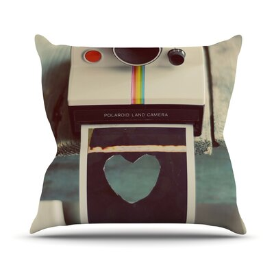 Polaroid Love by Cristina Mitchell Camera Throw Pillow Size: 16 H x 16 W x 1 D
