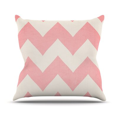 Sweet Kisses by Catherine McDonald Chevron Throw Pillow Size: 16 H x 16 W x 1 D