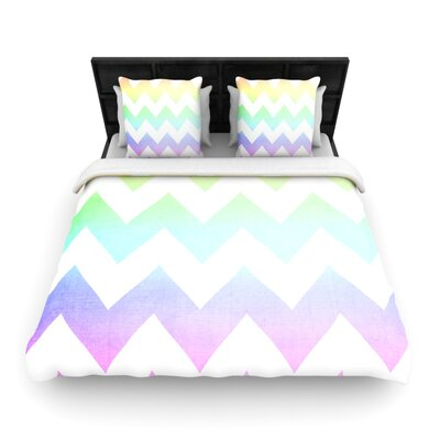 Catherine McDonald Woven Comforter Duvet Cover Size: King, Color: Water Color