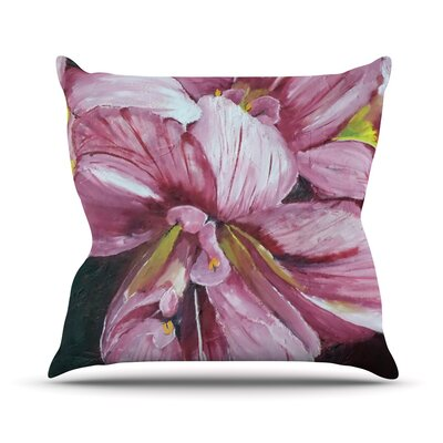 Day Lily Blooms by Cathy Rodgers Flower Throw Pillow Size: 16 H x 16 W x 1 D