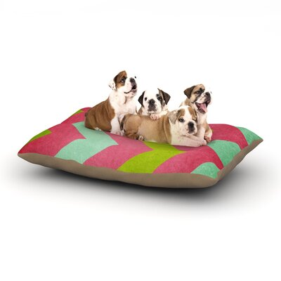 Catherine McDonald Cocktails with Lilly Dog Pillow with Fleece Cozy Top Size: Large (50 W x 40 D x 8 H)