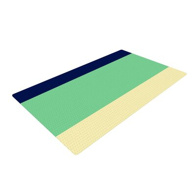 Catherine McDonald South Pacific Yellow/Green Area Rug Rug Size: 4 x 6