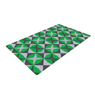 Empire Ruhl Silver and Green Abstract Green/Black Area Rug