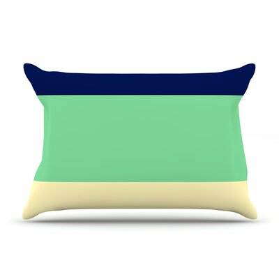 South Pacific by Catherine McDonald Featherweight Pillow Sham Size: Queen, Fabric: Woven Polyester