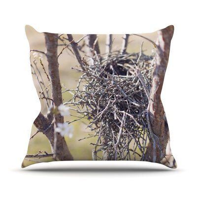 Nest by Catherine McDonald Throw Pillow Size: 16 H x 16 W x 1 D