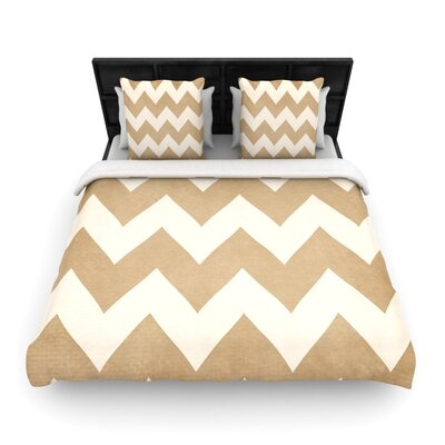 Catherine McDonald Woven Comforter Duvet Cover Size: King, Color: Biscotti and Cream
