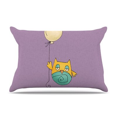 Carina Povarchik 'Lechuzita En Ballon' Owl Pillow Case