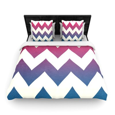 Catherine McDonald Woven Comforter Duvet Cover Size: Full/Queen, Color: Fade To Blue