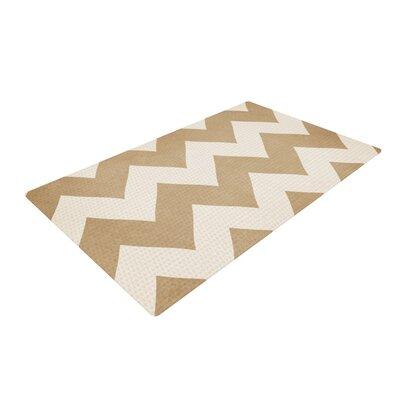 Catherine McDonald Chevron Biscotti/Cream Area Rug Rug Size: 2 x 3