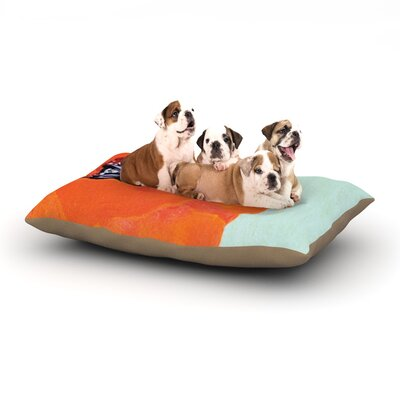 Christen Treat Vintage Poppy Flower Dog Pillow with Fleece Cozy Top Size: Large (50 W x 40 D x 8 H)