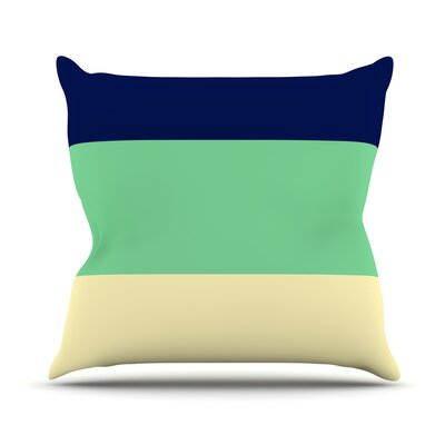 South Pacific by Catherine McDonald Throw Pillow Size: 16 H x 16 W x 1 D