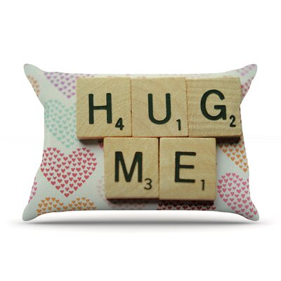 Cristina Mitchell Hug Me Heart Text Pillow Case