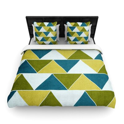 Catherine McDonald Woven Comforter Duvet Cover Size: Twin, Color: Mediterranean