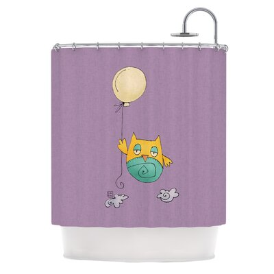 Carina Povarchik Lechuzita en Ballon Owl Shower Curtain