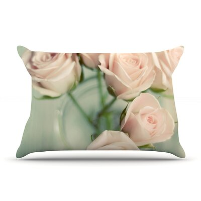 Pink Romance by Cristina Mitchell Featherweight Pillow Sham Size: Queen, Fabric: Woven Polyester