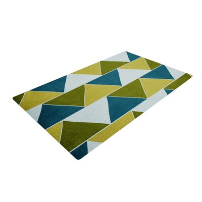 Catherine McDonald Mediterranean Yellow/Green Area Rug Rug Size: 4 x 6
