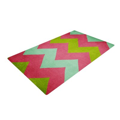 Catherine McDonald Cocktails with Lilly Red/Green Area Rug Rug Size: 4 x 6