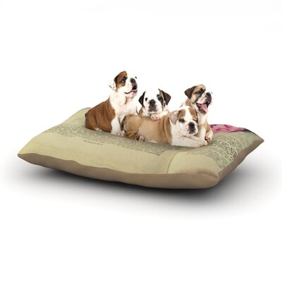 Cristina Mitchell A Good Read Dog Pillow with Fleece Cozy Top Size: Small (40 W x 30 D x 8 H)
