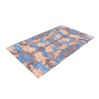 Empire Ruhl Forest Orange/Blue Area Rug Rug Size: 2 x 3