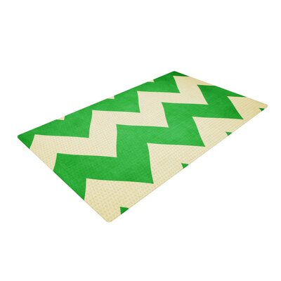 Catherine McDonald Granny Smith Chevron Green Area Rug Rug Size: 2 x 3