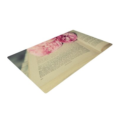 Cristina Mitchell a Good Read Pink/Tan Area Rug Rug Size: 2 x 3