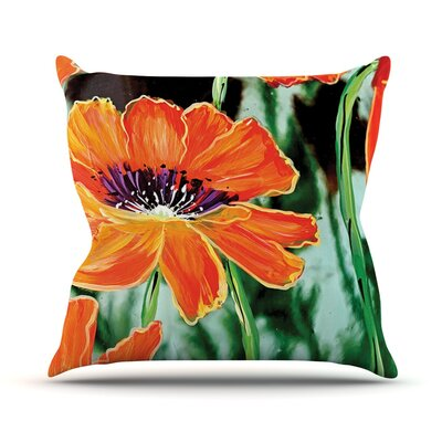 Through the Looking Glass by Christen Treat Throw Pillow Size: 18 H x 18 W x 1 D