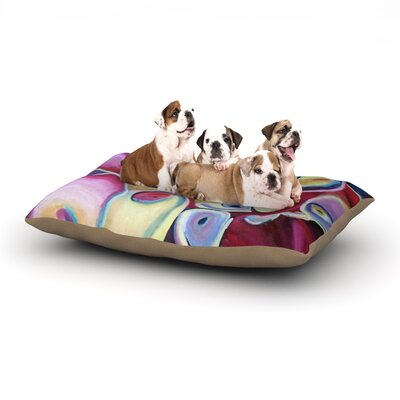 Cathy Rodgers Groovy Flowers Dog Pillow with Fleece Cozy Top Size: Small (40 W x 30 D x 8 H)