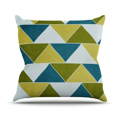 Mediterranean by Catherine McDonald Throw Pillow Size: 18 H x 18 W x 1 D