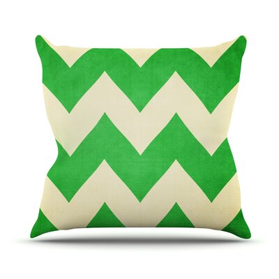 Granny Smith by Catherine McDonald Chevron Throw Pillow Size: 16 H x 16 W x 1 D