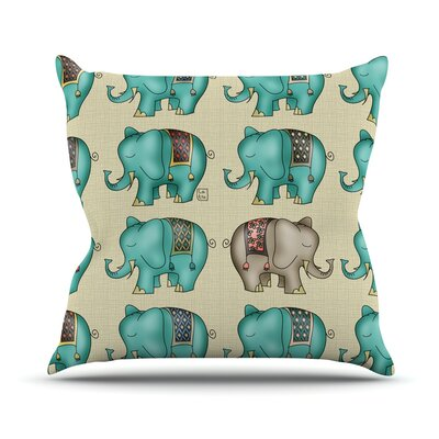 Dreamy Ellie by Carina Povarchik Art Object Throw Pillow Size: 26 H x 26 W x 1 D