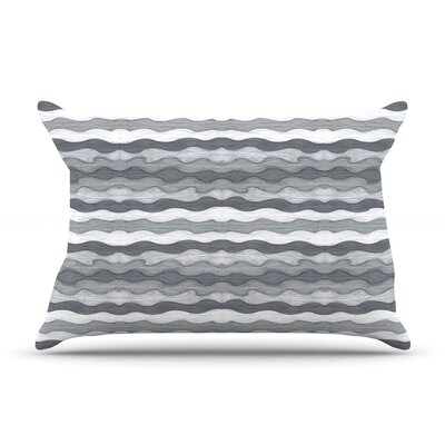 51 Shades of Gray by Empire Ruhl Featherweight Pillow Sham Size: King, Fabric: Woven Polyester