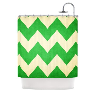Catherine McDonald Granny Smith Chevron Shower Curtain