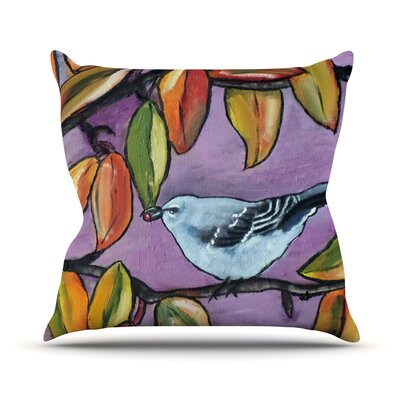 Mockingbird Outdoor Throw Pillow Size: 16 H x 16 W x 3 D