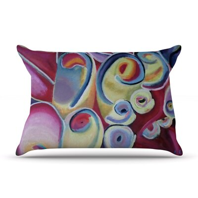 Cathy Rodgers Groovy Rainbow Flowers Pillow Case