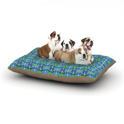 Empire Ruhl Sea Glass Dog Pillow with Fleece Cozy Top Size: Large (50 W x 40 D x 8 H)