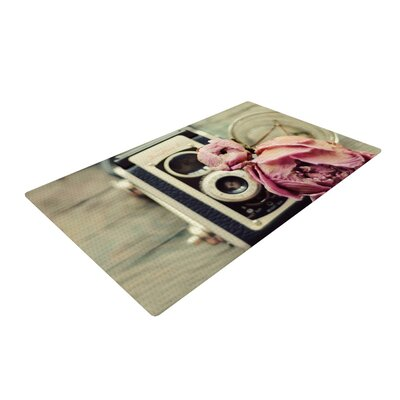 Cristina Mitchell I Have But Two Loves Pink/Tan Area Rug Rug Size: 4 x 6