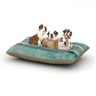 CarolLynn Tice Line Up Dog Pillow with Fleece Cozy Top Size: Large (50 W x 40 D x 8 H)