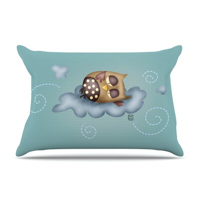 Carina Povarchik Sleepy Guardian Owl Pillow Case