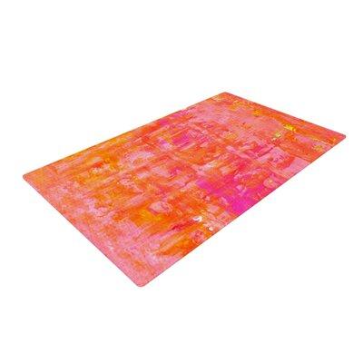 CarolLynn Tice Wiggle Orange Area Rug Rug Size: 2 x 3