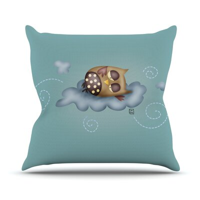 Sleepy Guardian by Carina Povarchik Owl Throw Pillow Size: 26 H x 26 W x 1 D