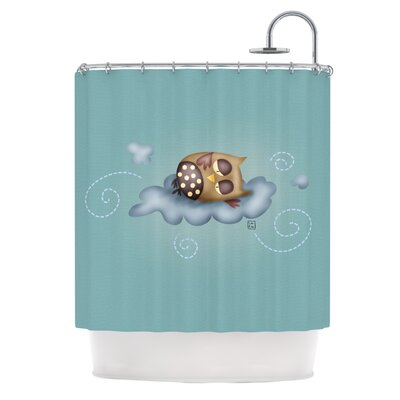 Carina Povarchik Sleepy Guardian Owl Shower Curtain