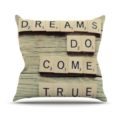 Dreams by Cristina Mitchell Wood Throw Pillow Size: 16 H x 16 W x 1 D